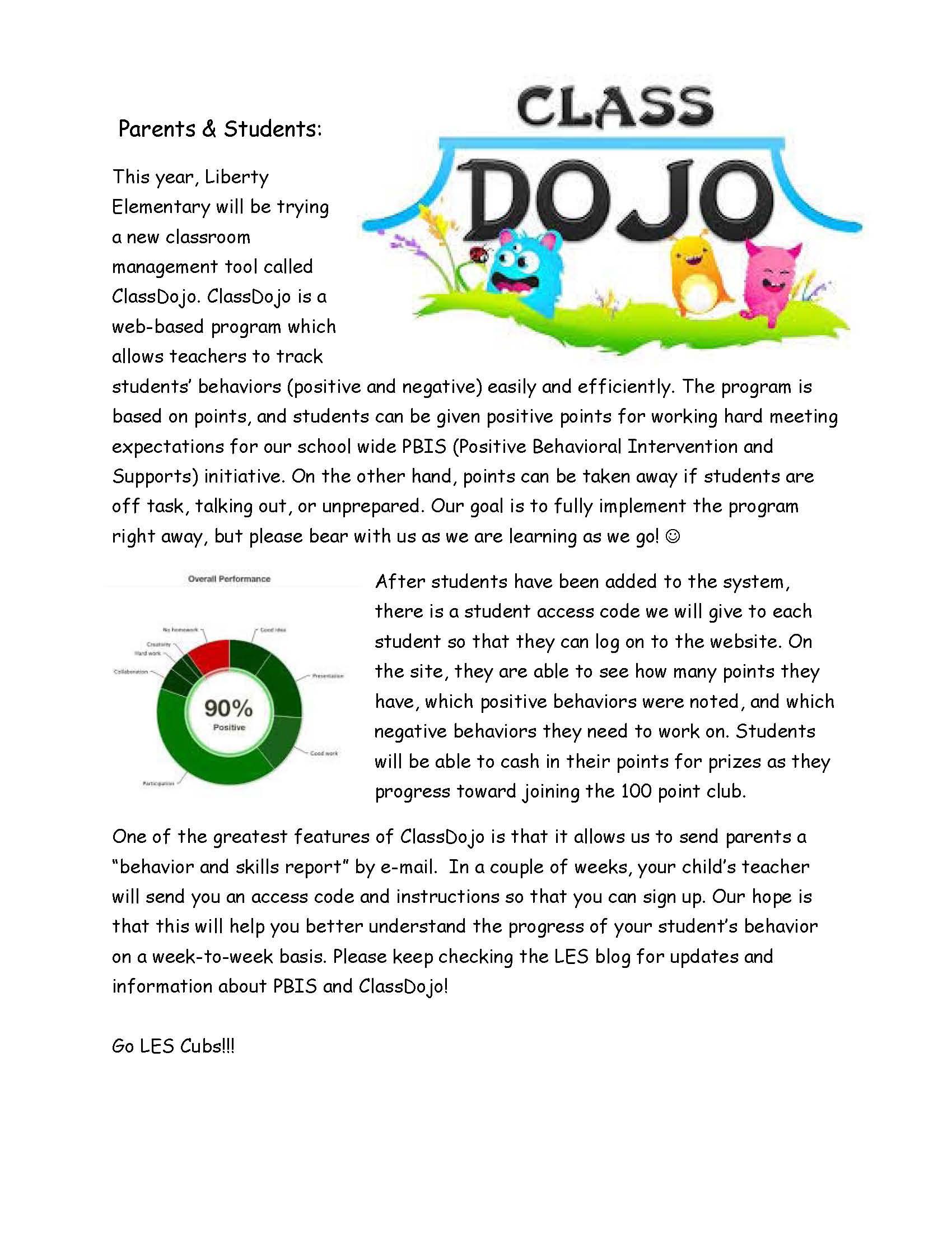 class dojo classdojoparent letter